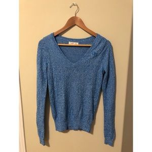 Gilly Hicks Long Sleeve Blue V-Neck Sweater